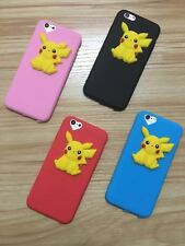 3D New Stylish Pokemon Go Pikachu Back Cover Case for Apple iPhone 5/5S/6/6S/6+S