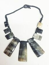 Statement Buffalo Horn Necklace. NEW!