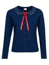 Pussy Deluxe Lovely Marine Sweet Dotties Collar Jacke blau