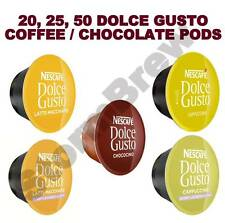 20,25,50 NESCAFE DOLCE GUSTO COFFEE PODS ONLY (LOOSE): CAPPUCCINO, LATTE, SKINNY