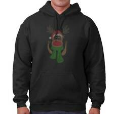 Reindeer Ugly Christmas Sweater | Holiday Santa Claus Rudolph Hoodie