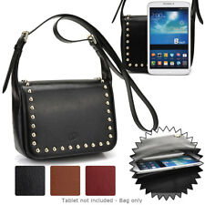 7 inch Tablet Womens Studded Faux Leather Shoulder Bag Case Cover BGSTU-6