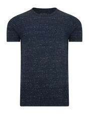 French Connection Summer Granite Marine Blue Fashion T-Shirt Slim Fit Cotton Tee