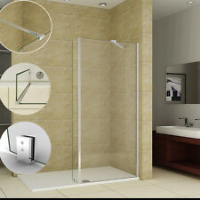 Aica walk in shower enclosure wet room screen panel 8mm easy clean glass