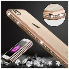Luxury Ultra Thin Crystal Diamond Bling Gel Case Cover for iPhone 5 5s 6 6s plus