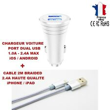 CHARGEUR VOITURE USB DUAL 3,4A ALLUME CIGARE IPHONE iPAD SAMSUNG iOS ANDROID