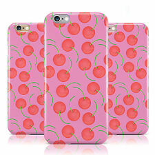 HOT PINK STEM AND CHERRY PATTERN CASE COVER FOR APPLE IPHONE MOBILE PHONES