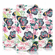 BUTTERFLY TEAL PINK TROPICAL FLOWER PATTERN CASE FOR APPLE IPHONE MOBILE PHONES