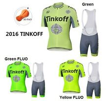 Cycling Clothing 2016 Tinkoff Saxo Bank summer Set bicycle jersey culotte Tour