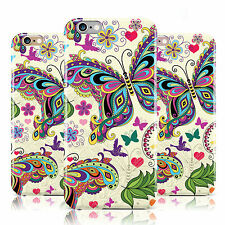 SUMMER BUTTERFLIES & FLOWERS PATTERN CASE COVER FOR APPLE IPHONE MOBILE PHONES