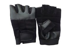 Fingerless Sports Cycling Bicycle Gloves half finger glove split leather