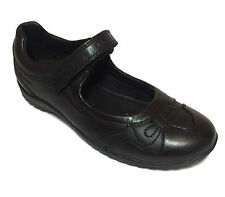Geox J Shadow A New Girls Black Leather or Patent School Shoes Size 27 - 38
