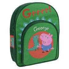 Green Peppa Pig George and Mr Dinosaur Backpack, Rucksack School Bag Kids