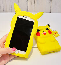 3D Cartoon Pikachu Pokemon GO Phone Case Silicon Cover For iPhone 5 5S 6 7 Plus