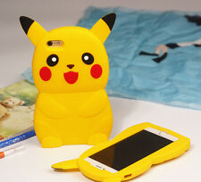 3D Pokemon Go Cartoon Pikachu Phone Case Silicon Cover For iPhone SE 5 6 6S Plus