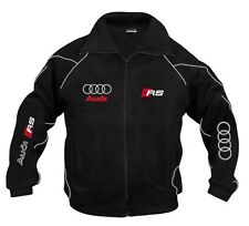 Neu Herren Audi RS Racing Sport Fan Fleece Jacke Gr. M, L, XL, XXL, XXXL
