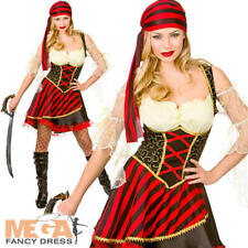 Glamorous Pirate Ladies Fancy Dress Ship Mate Buccaneer Womens Adults Costume