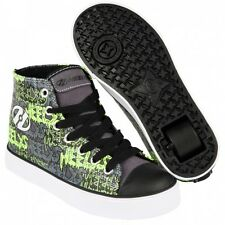 Heelys chaussure à roulette hustle 770679 black grey lime graffiti