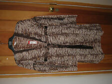 YAMAMAY BROWN BEIGE ANIMAL TIGER STRIPE DRESSING NIGHT GOWN S  BNWT