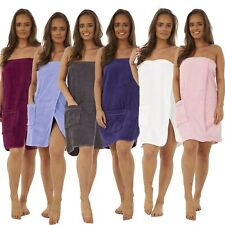 100% Cotton Ladies Womens Luxury Shower Towel Wrap Toweling Bath Beach Cover Up