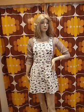 Women's Run & Fly80's/90's style dungaree/pinafore dress with Dinosaur print