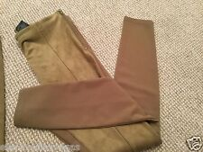 BN H&M STRETCH DARK BEIGE FAUX SUEDE TREGGINGS small 8/10 medium 10/12