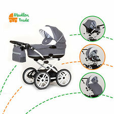 Pram Pushchair 3in1 Excellent Paradise Travel System Buggy Optional Car Seat