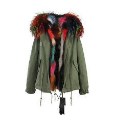2016 F/W  Multi-Color REAL FUR Lining and FUR Hood Coat Army Jacket Parka