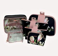 TED BAKER DESIGNER MAKE UP BAG SET COSMETIC TRAVEL CASE WASH BAG VANITY HANDBAG