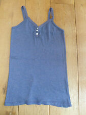 TOAST COPPER GLITTER BUTTON FRONT CAMISOLE VEST TOP BLUE PURPL LILAC M L XL BNWT