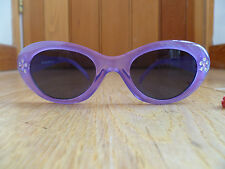 MARKS AND SPENCERS PURPLE LILAC DIAMANTE FLOWER SUNGLASSES ONE SIZE