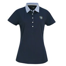 Catmandoo Soft-Stretch Polo with Cute Chambray Collar - Last One - Size 10 Only