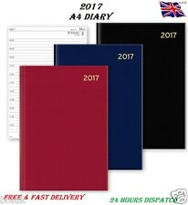 2017 A4/A5/A6 Diary Day to Page or Week to View Desk Diary Hard Backed Diary New
