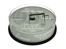 50 Mediarange audio blank CD-R CD discs 52x 700MB 80mins Printable