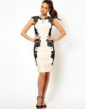 Paper Dolls Mirrored Lace Bodycon Dress Nude