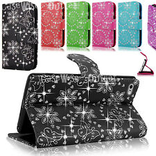 Bling Diamond Leather Sparkle Wallet Flip Magnetic Case Cover For Apple iPhone