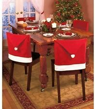 Pack Of 6 Santa Hat Dining Chair Covers - Christmas Party Decoration