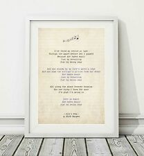 239 Nick Harper - Lily's Song - Song Lyric Art Poster Print - Sizes A4 A3