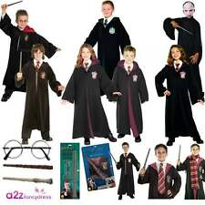 BOYS GIRLS HARRY POTTER LICENSED HALLOWEEN FANCY DRESS COSTUME ROBE ACCESSORY