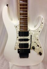 Ibanez RG350DX USED Electric Guitar in white with Floyd Tremolo