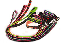Soft Air Mesh Padded  Collar and Leash Set Reflective Dog Collar & Lead Set