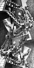 M.C. Escher 'House of stairs' 1951 - FINE ART PRINT / REPRODUCTION