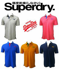 SuperDry 2016 mens Polo Collar cotton Tee T Shirt Top L M XL.Diwali Gift Sale