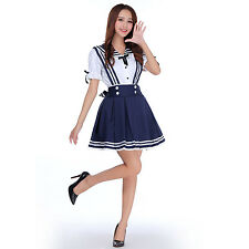 School Uniform Dress Sailor Cosplay Halloween Costume Anime Girl Styles Blue New