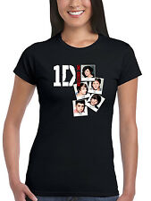 Official One Direction Foto Pila Donna T-Shirt 1D Liam Niall Harry Zayn