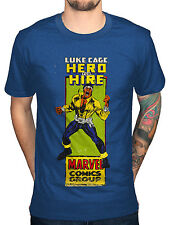 Official Cómics Marvel LUKE CAGE CÓMIC GRUPO Camiseta Héroe FOR HIRE