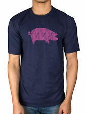 Official Pink Floyd Awbdg T-Shirt Maiale Smoking Blues Scuro Side Of The Moo