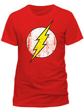 Official DC Comics Flash Logo T-Shirt Big Bang Theory Pollaio CARTONE ANIMATO