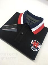 BLACK PREMIUM QUALITY Tommy Hilfiger Polo T-Shirt for Men - Export Surplus SALE