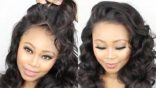 8A Body Wave/Straight Brazilian/Peruvian Virgin Human Hair Lace Frontal Closures
